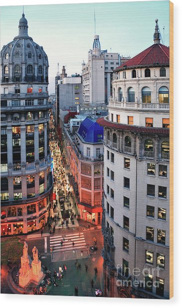 Buenos Aires Street I Wood Print