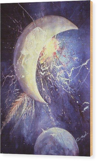 Buffalo Half-moon Wood Print