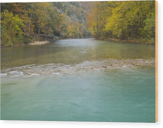 Buffalo River - 4589 Wood Print