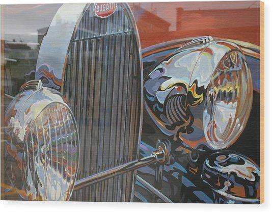 Bugatti Wood Print by Dennis Curry