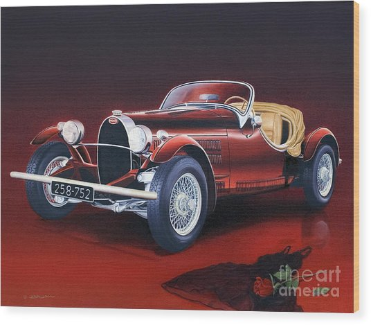 Bugatti. Italian Exotic Car Wood Print