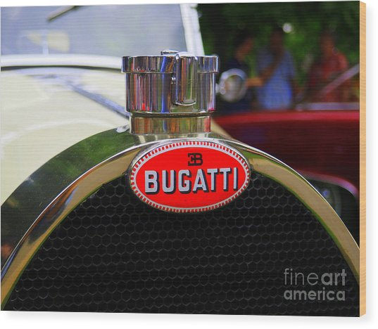 Bugatti Red Wood Print