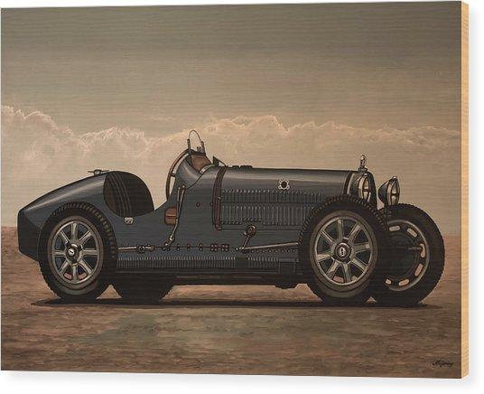 Bugatti Type 35 1924 Mixed Media Wood Print