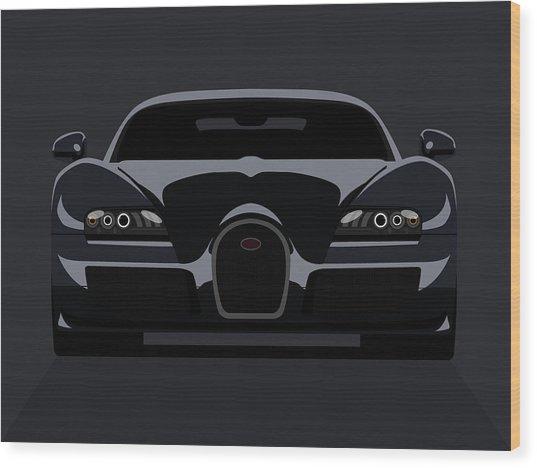 Bugatti Veyron Dark Wood Print