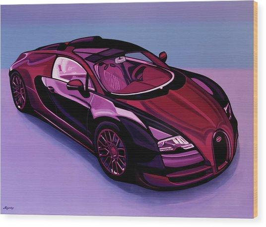 Bugatti Veyron 2005 Painting Wood Print