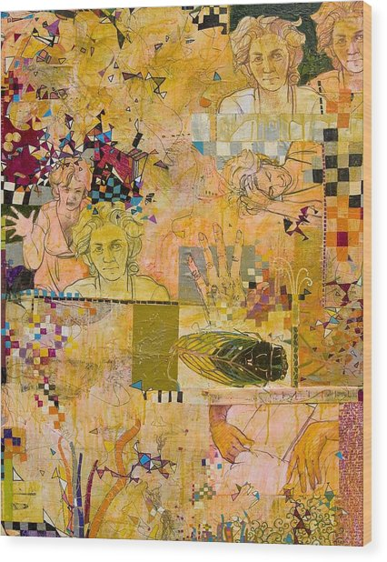 Bugged Wood Print by Chris Monette Appleton