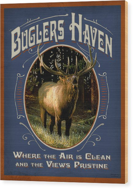 Buglers Haven Sign Wood Print