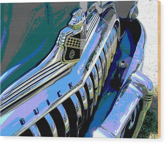 Buick Eight Wood Print by Audrey Venute