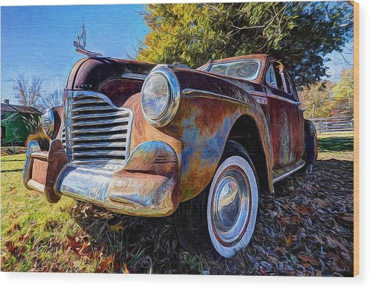 Buick Eight Wood Print