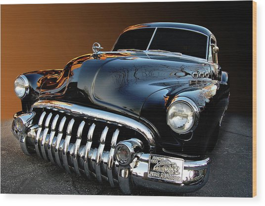 Buick Eight Sled Wood Print by Bill Dutting