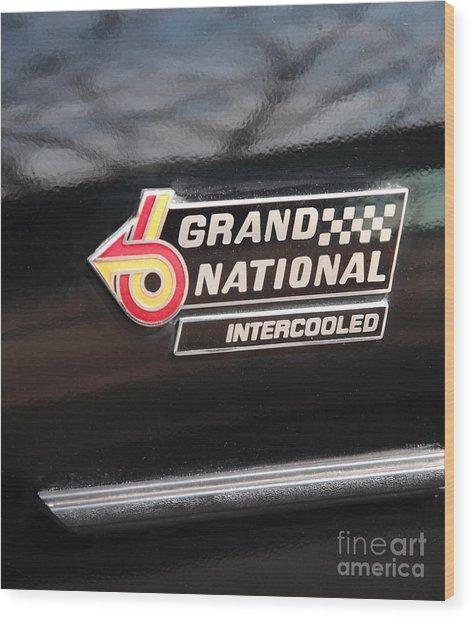 Buick Grand National Emblem Wood Print