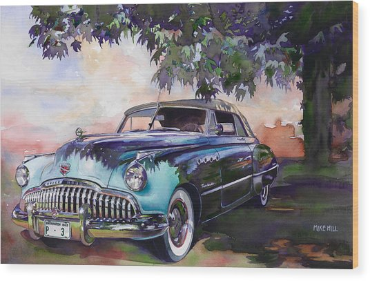 Buick Roadmaster Dynaflow 1949 Wood Print by Mike Hill