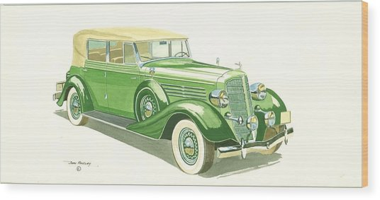 Buick Series 60 1935 Wood Print by John Kinsley
