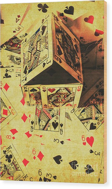 Building Bets And Stacking Odds Wood Print