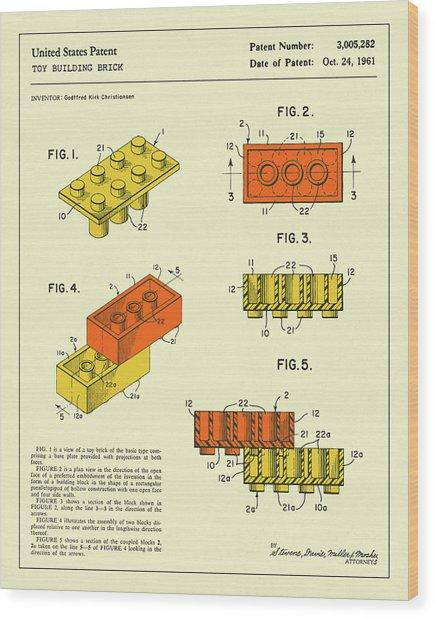 Building Bricks 1961 Wood Print