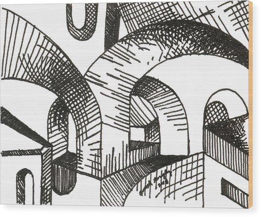 Buildings 1 2015 - Aceo Wood Print