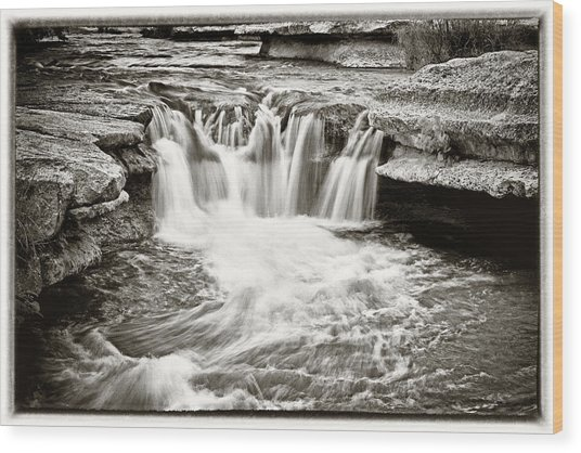 Bull Creek Water Run Wood Print