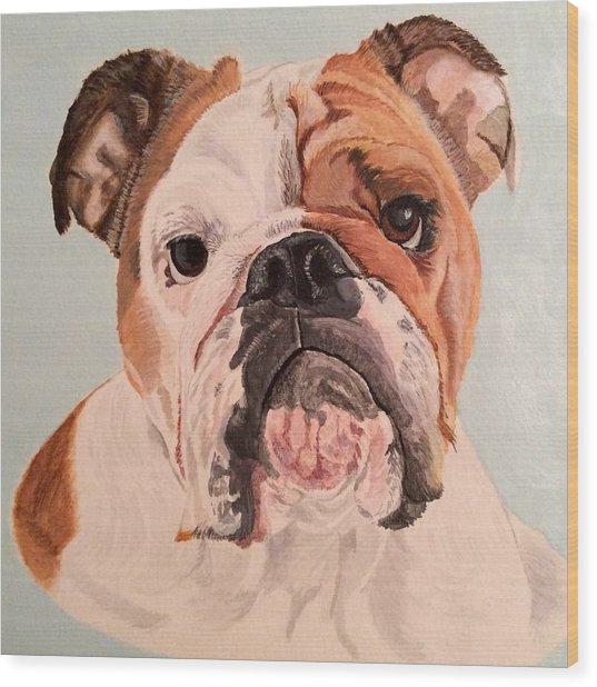 Bulldog Beauty Wood Print
