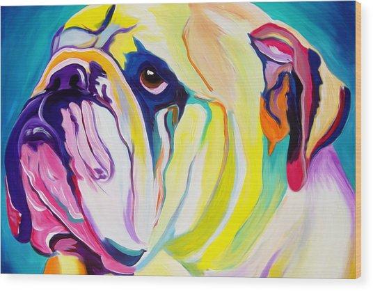 Bulldog - Bully Wood Print