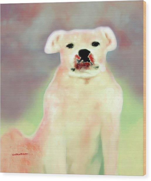Bulldog Rana Art 43 Wood Print