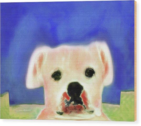 Bulldog Rana Art 7 Wood Print