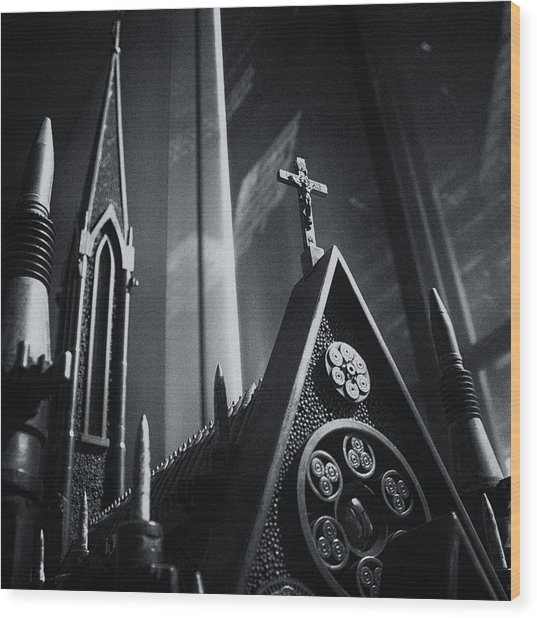 Bullet Church Wood Print