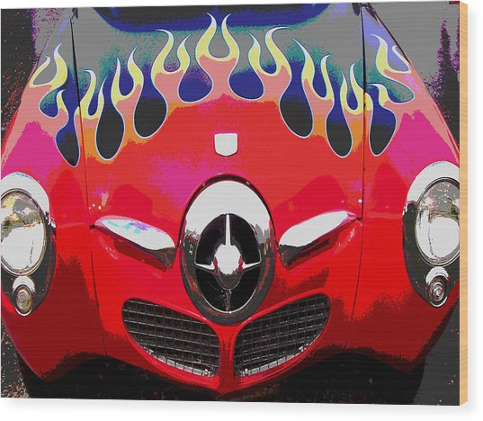 Bullet Nose Studebaker Wood Print by Audrey Venute