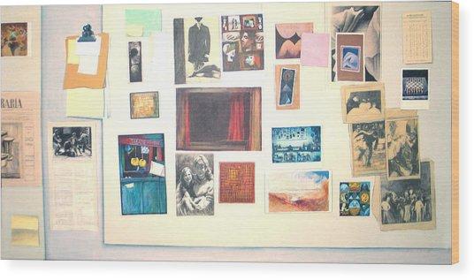 Bulletin Board Wood Print by James LeGros
