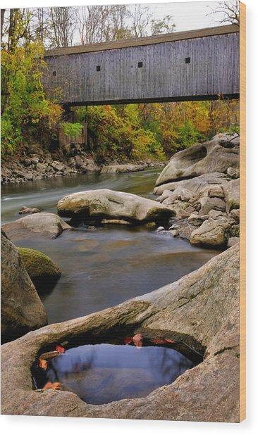 Bulls Bridge - Autumn Scene Wood Print