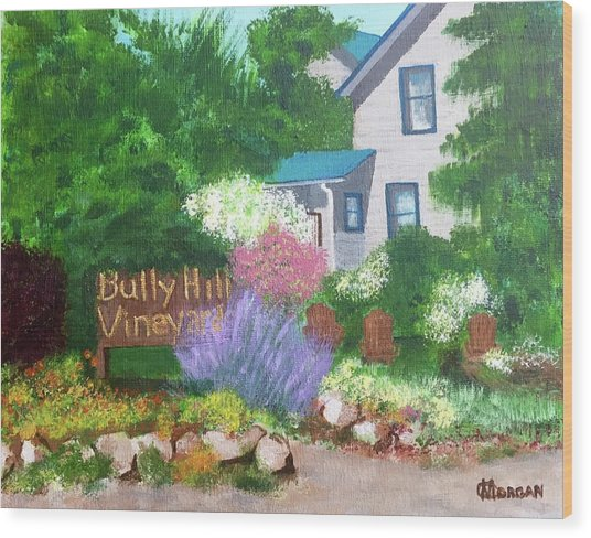 Bully Hill Vineyard Wood Print
