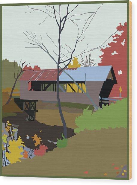 Bump Bridge Wood Print by Marian Federspiel
