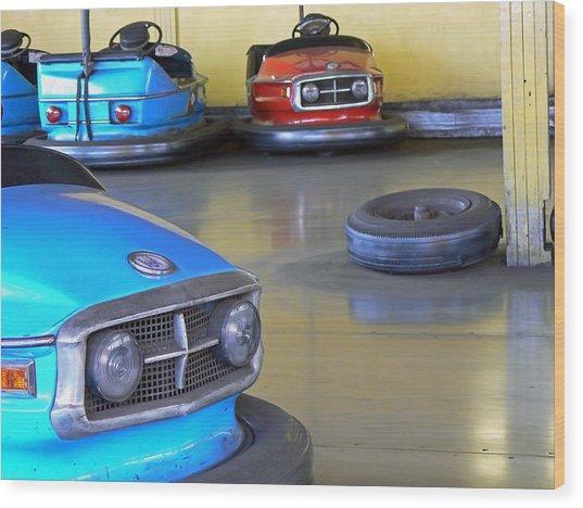 Bumper Cars  Wood Print