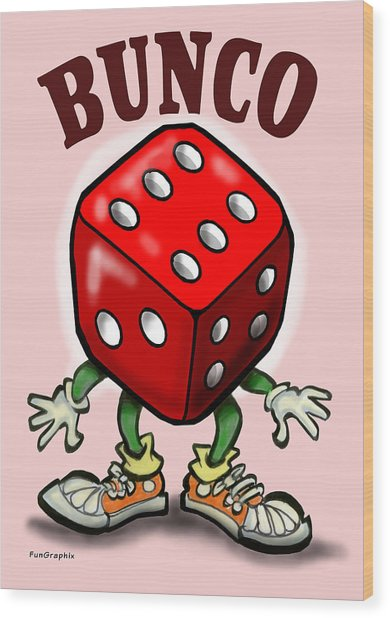 Bunco Wood Print