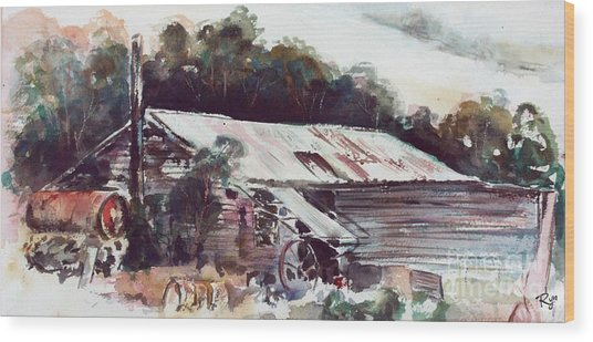 Buninyong Dairy Wood Print