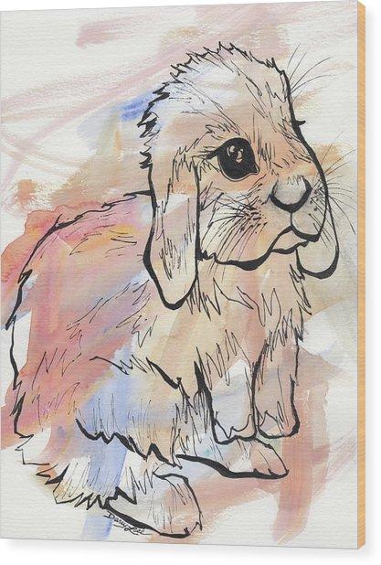 Bunny Love Wood Print