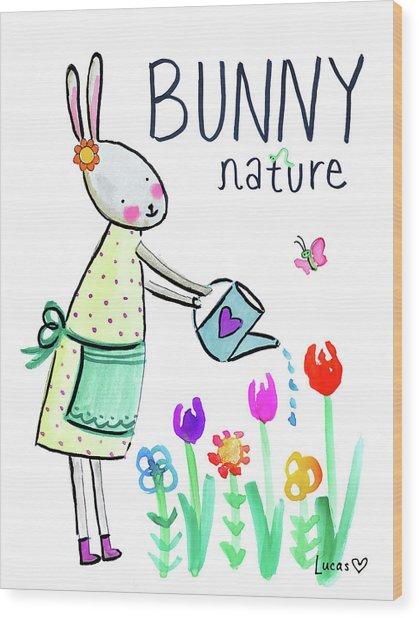 Bunny Nature Wood Print