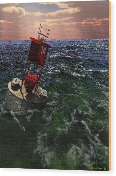 Buoy 14 Wood Print by Williem McWhorter