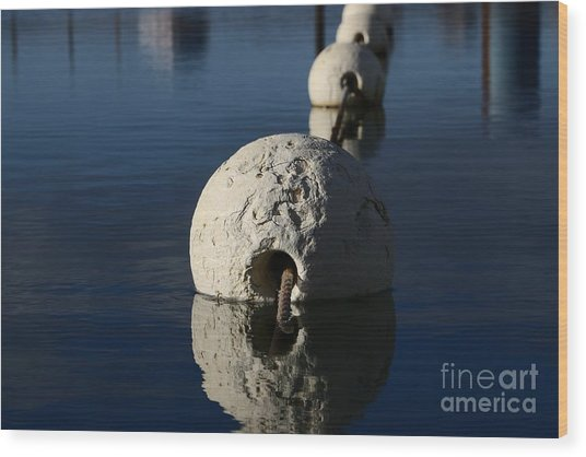 Wood Print featuring the photograph Buoy Upfront by Stephen Mitchell
