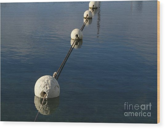 Buoys In Aligtnment Wood Print