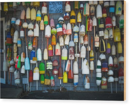 Buoys, Martha's Vineyard Wood Print