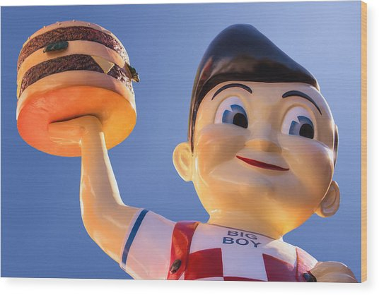 Burger Bob Wood Print