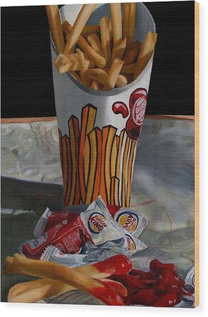 Burger King Value Meal No. 5 Wood Print