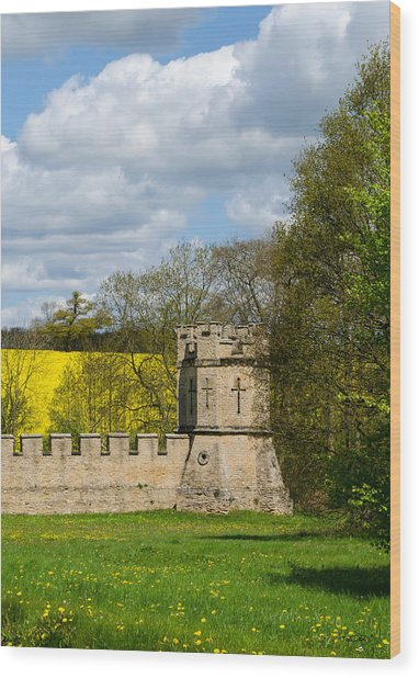 Burghley House Fortifications Wood Print