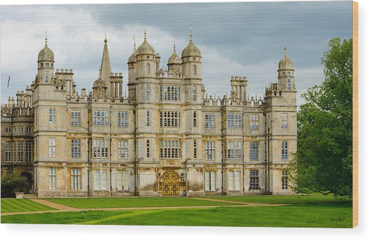 Burghley House Wood Print