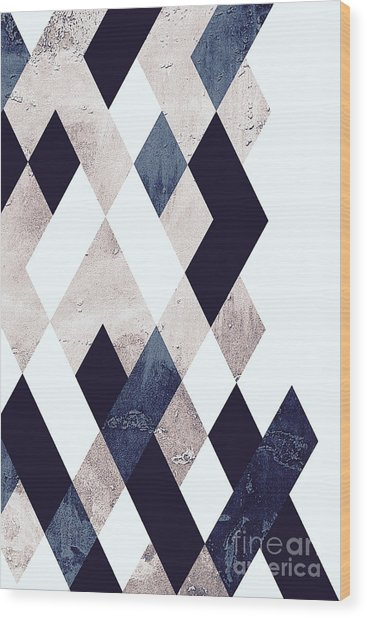 Burlesque Texture Wood Print