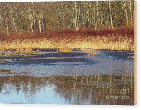 Burnaby Lake Wood Print