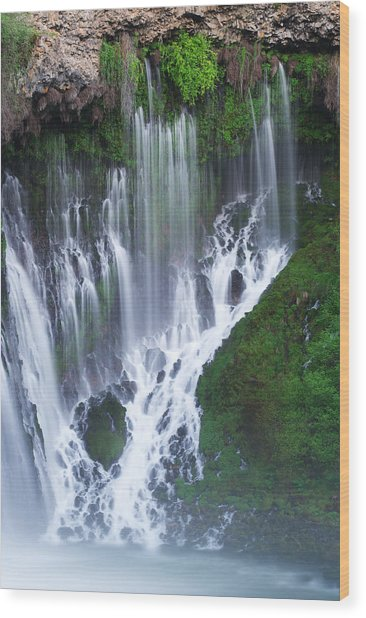 Burney Falls Wood Print by Eric Foltz