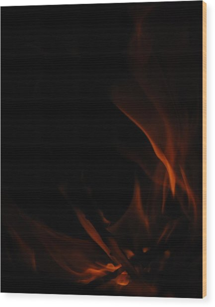 Burning Desire Wood Print by Kimberly Camacho