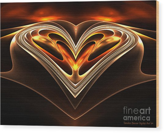Burning Desire Wood Print