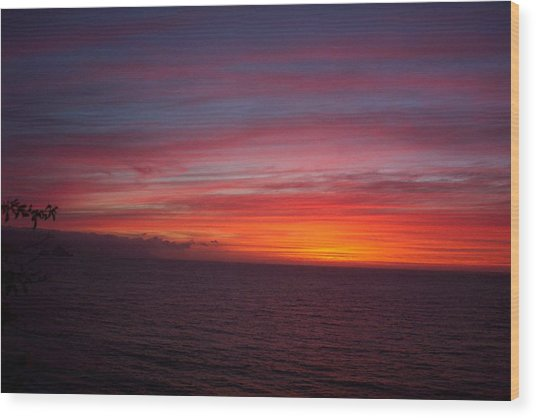 Burning Sky 2 Wood Print by James Johnstone